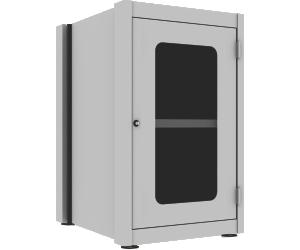 Gabinete Industrial Fixo com Porta de Aço com Visor em Acrílico e 1 Prateleira