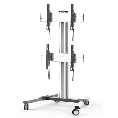 Pedestal Móvel Com Ajuste Vertical para 2 TVs 42 a 55 (70 Kg)